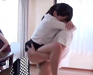 Japanese Sister Morning Hookup With Manhood in The Front Of Family
