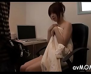 Lascivious mom with perky tits takes big cock in mouth and eats cum
