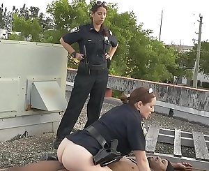 BLACK PATROL - Officers Maggie Green, Nina Lopez and Joslyn Put Black Suspect In His Place