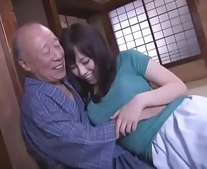 Sexy Azusa Nagasawa has hookup with two lucky old studs