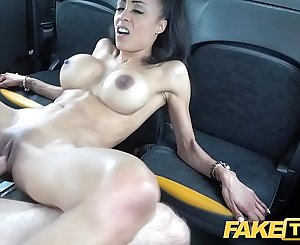 Fake Taxi Petite ebony with big tits works drives dick for cum