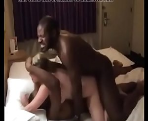 Busty Amateur Wife Having a Hard Time with Black Cock in Rough Threesome with Hubby on WifeSharing666com